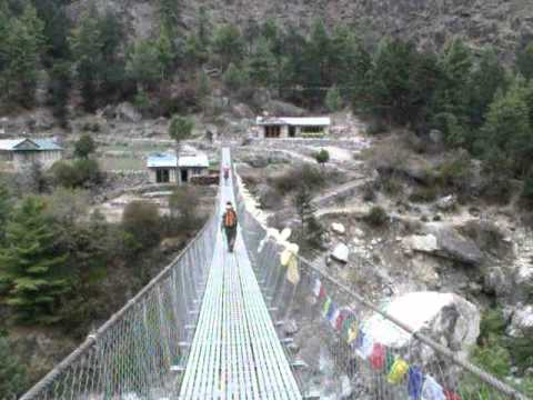 Nepal Trek –  Typical bridge system