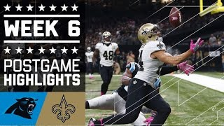 Panthers vs. Saints | NFL Week 6 Game Highlights