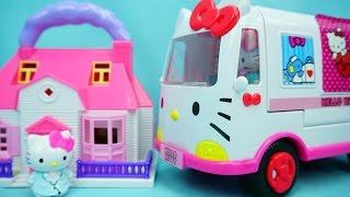 Hello Kitty 凯蒂猫的别墅 迪士尼 玩具 直升飞机与救护车