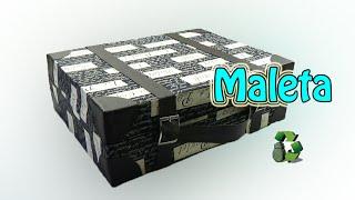 Maleta vintage o retro [Cartonaje] (Reciclaje) Ecobrisa.