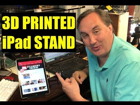 iPad Pro Foldable Stand 3D Printed using Filament Friday Filament