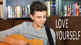 Justin Bieber - Love Yourself (Acoustic Cover) ft. Ed Sheeran Lyrics - Shon Burnett