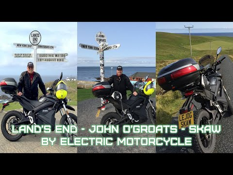 Land's End to John o'Groats to Skaw by Electric Motorcycle