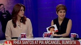 UB: Rhea Santos at Pia Arcangel, bumisita sa Tonight with Arnold Clavio
