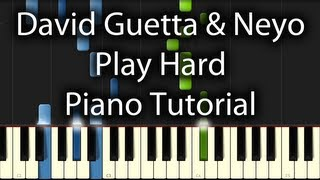 David Guetta - Play Hard feat. Ne-Yo & Akon Tutorial (How To Play on Piano) Work Hard