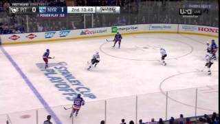 Murray's save through traffic | Penguins @ Rangers