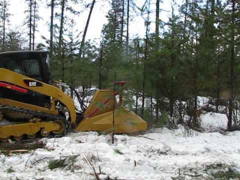 Mulching in the snow with a Skid Steer Mulcher -SS ECO