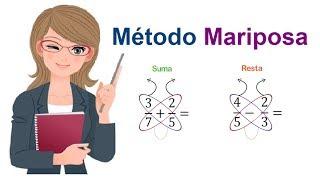 Suma y Resta de Fracciones - MÉTODO MARIPOSA - Truco Fácil y Rápido