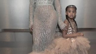 4-Year-Old Blue Ivy Joins Beyonce at VMAs Wearing $11,000 Dress