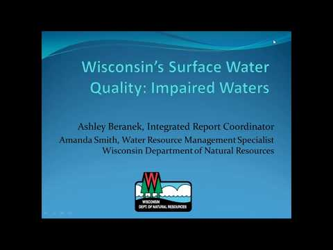 Wisconsin's Surface Water Quality: Impaired Waters (Webinar)