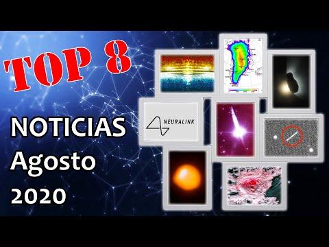 Top 8 Noticias científicas agosto 2020
