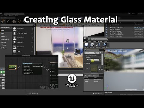 UE4 Tutorial: Creating Glass Material Easy Way