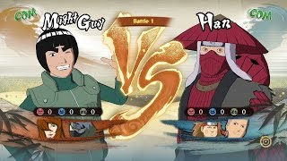 Naruto Shippuden: Ultimate Ninja Storm 4, Might Guy/Mei/Kakashi VS Han/Choji/Hidan!
