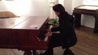 Aliena Wong played Moonlight Sonata on Beethoven's original piano in Vienna