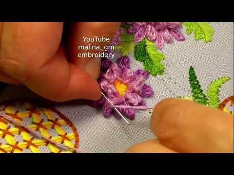 Brazilian embroidery *Amazing Chrysanthemum Flowers