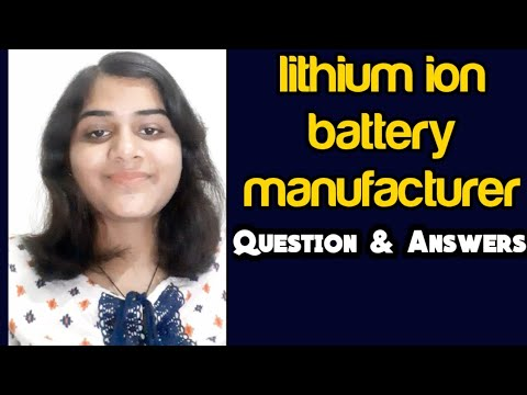 Lithium ion battery manufacturer in India