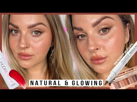 """faux freckles are just NOT for me"""" ? NATURAL GLAM makeup with 3284 products"""