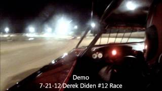 7-21-12 Derek Diden #12 - Race - Wreck - Wartburg Speedway - Demo Video