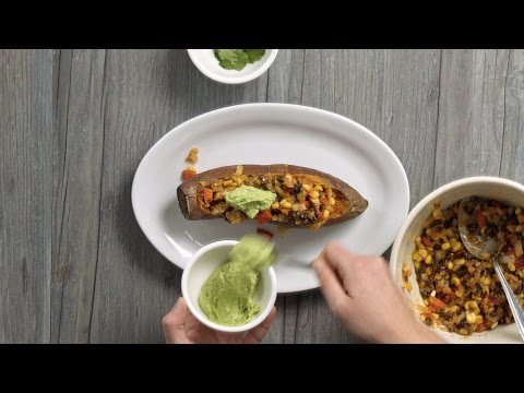 How to Make Mexican Stuffed Sweet Potato