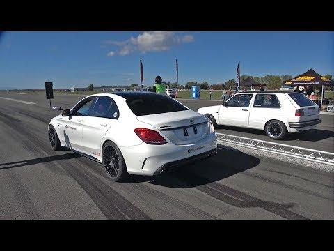 Mercedes-AMG C63S AMG TTE780 vs VW Golf 2