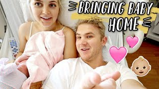 FIRST 24 HOURS WITH A NEWBORN + BRINGING BABY HOME!!