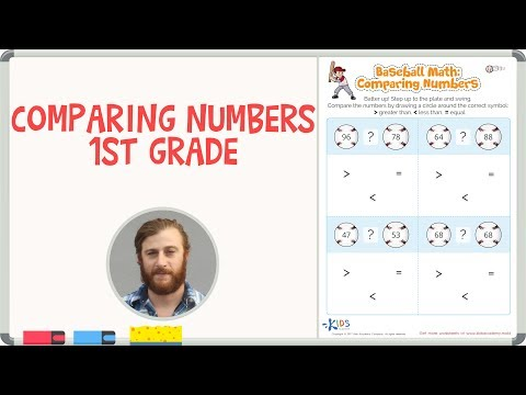 Comparing Numbers 1st Grade   Math Worksheets   Kids Academy