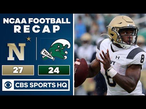Navy vs Tulane: NCAA Fotball Recap   09-19-2020   CBS Sports HQ