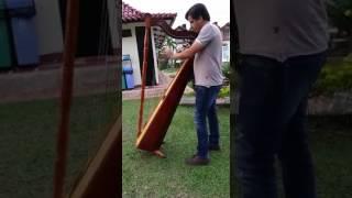 Regueton lento, arpa instrumental.