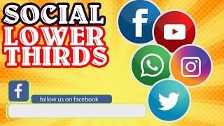Social Lower Thirds Green Screen