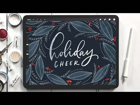 Watercolor Holiday Greeting in Procreate