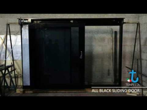 All Black Electric Sliding Door