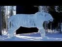 Zachwycające lodowe rzeźby