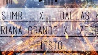 KSHMR & DALLAS K  Vs Zedd Ft Ariana Grande Vs Tiesto- Burn Free Lights (DIRTYSQUAD Bootleg)