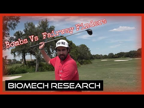 Hitting Bombs Vs Just trying to find fairways (My biomechanics Research)