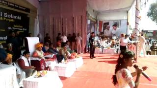 Speech by janhavi front of governor of Haryana