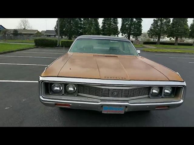 1971 Chrysler New Yorker Tour, Start Up, Drive
