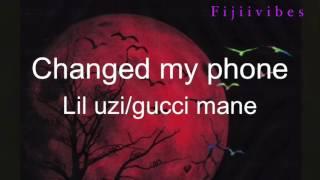 Lil uzixgucci mane-Changed my phone (lyrics)