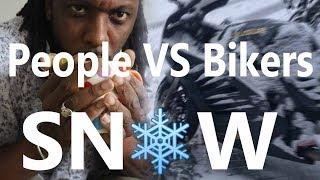 Normal life VS BikeLife IN THE SNOW  🏍🌨😨