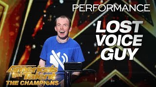 Lost Voice Guy: Comedian Gives Hilarious Take On Disabilities - America's Got Talent: The Champions