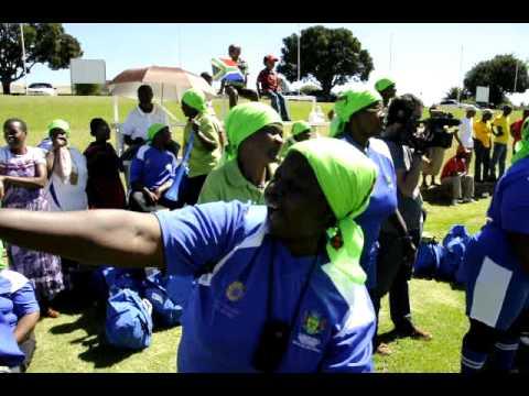 Großmutter-Fußball in Johannesburg