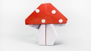 How to make a paper mushroom   Fly agaric origami