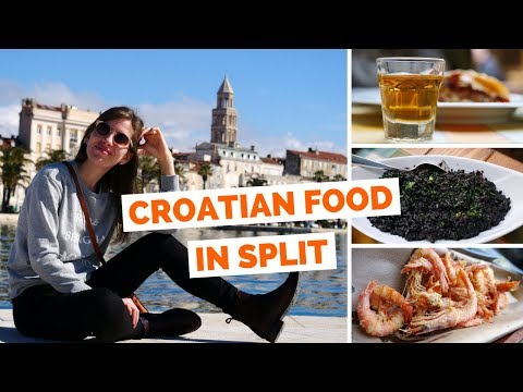 Trying Croatian Food in Split, Croatia
