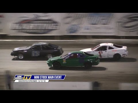 Main Event: Mini Stock Racing from Bakersfield Speedway 5-12-18
