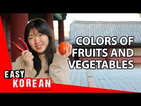 8 Colors of Fruits and Vegetables in Korean | Super Easy Korean 12 photo