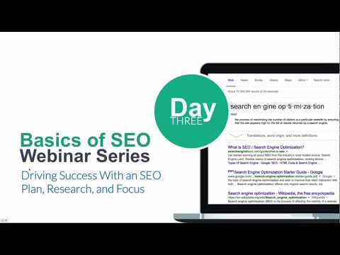 SEO Week Day Three: Driving Success With an SEO Plan, Research, and Focus