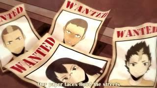 Haikyuu!! Partners in Crime (Lyrics + Rus, Esp, Por, Ita, Hun, Fra, Pol subtitles)