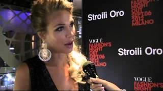 Intervista a Ilary Blasi, testimonial di Stroili Oro   Vogue Fashion's Night Out