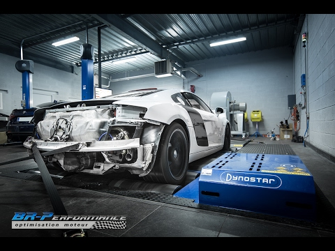 Audi R8 V8 Stage 1 with Powerflow exhaust by BR-Performance