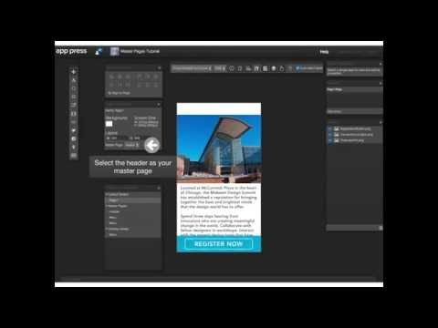 App Press | Overlays and Master Pages