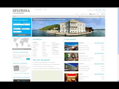 Splendia home page tutorial (en)